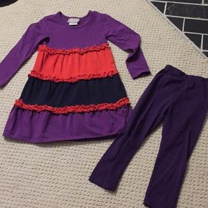 Size 4T Southern Tots dress with leggings